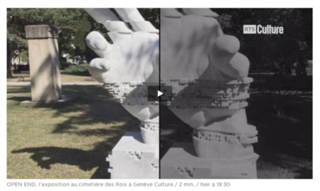 """""""OPEN END"""", L'exposition qui investit le cimetière des Rois à Genève"""